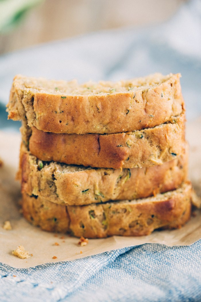 Healthy Zucchini Bread lightly sweetened and super moist! eat-yourself-skinny.com