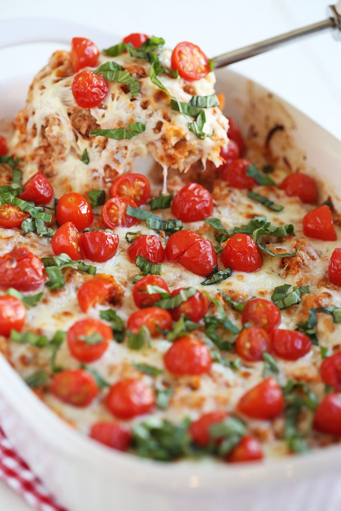 Cheesy Caprese Chicken And Quinoa Casserole | Delicious And Healthy Casserole Recipes | Homemade Recipes