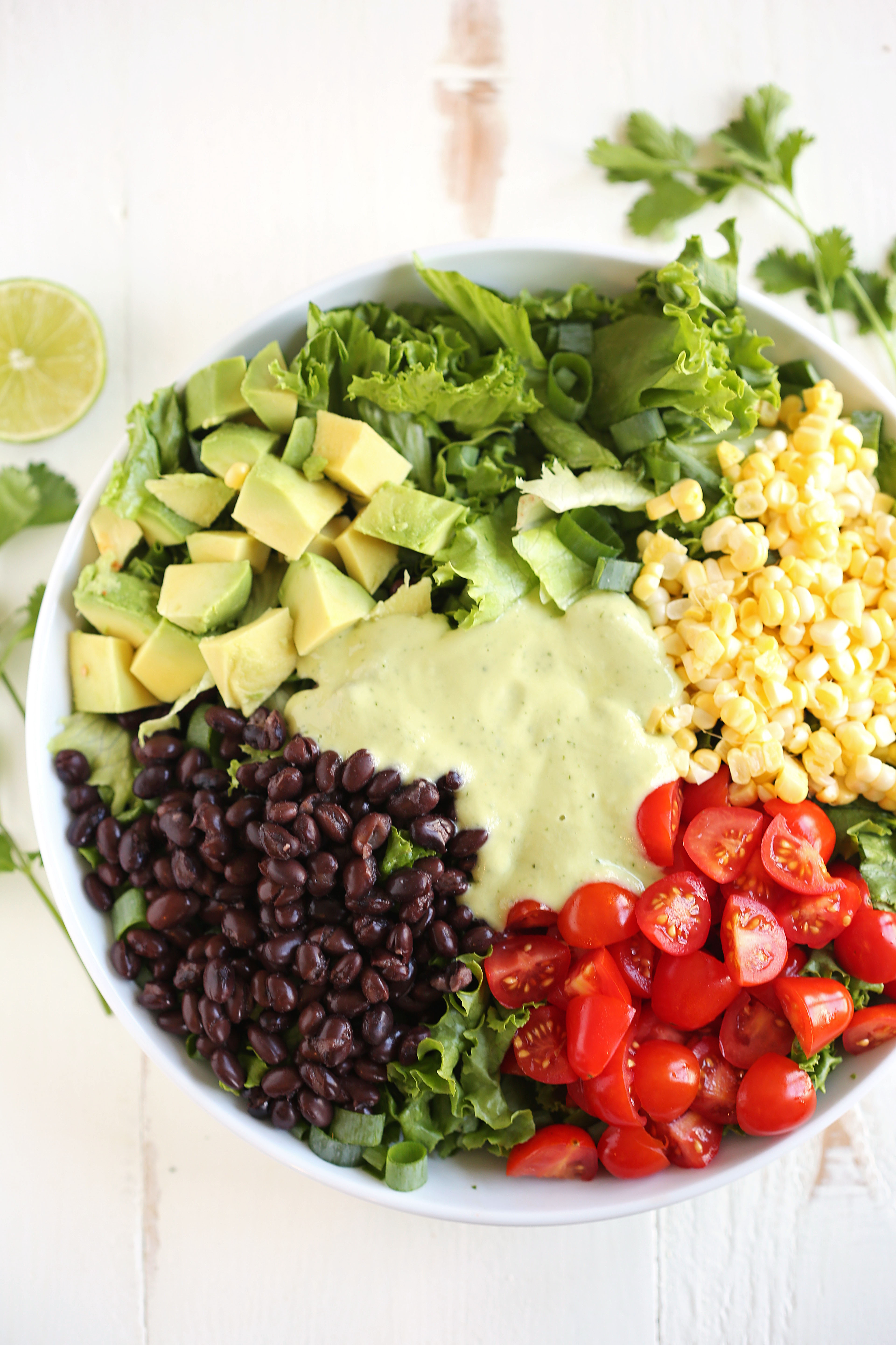 Southwestern Salad with Creamy Avocado Dressing - Eat ...