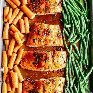 You guysTHIS Sheet Pan Ginger Soy Glazed Salmon that ishellip