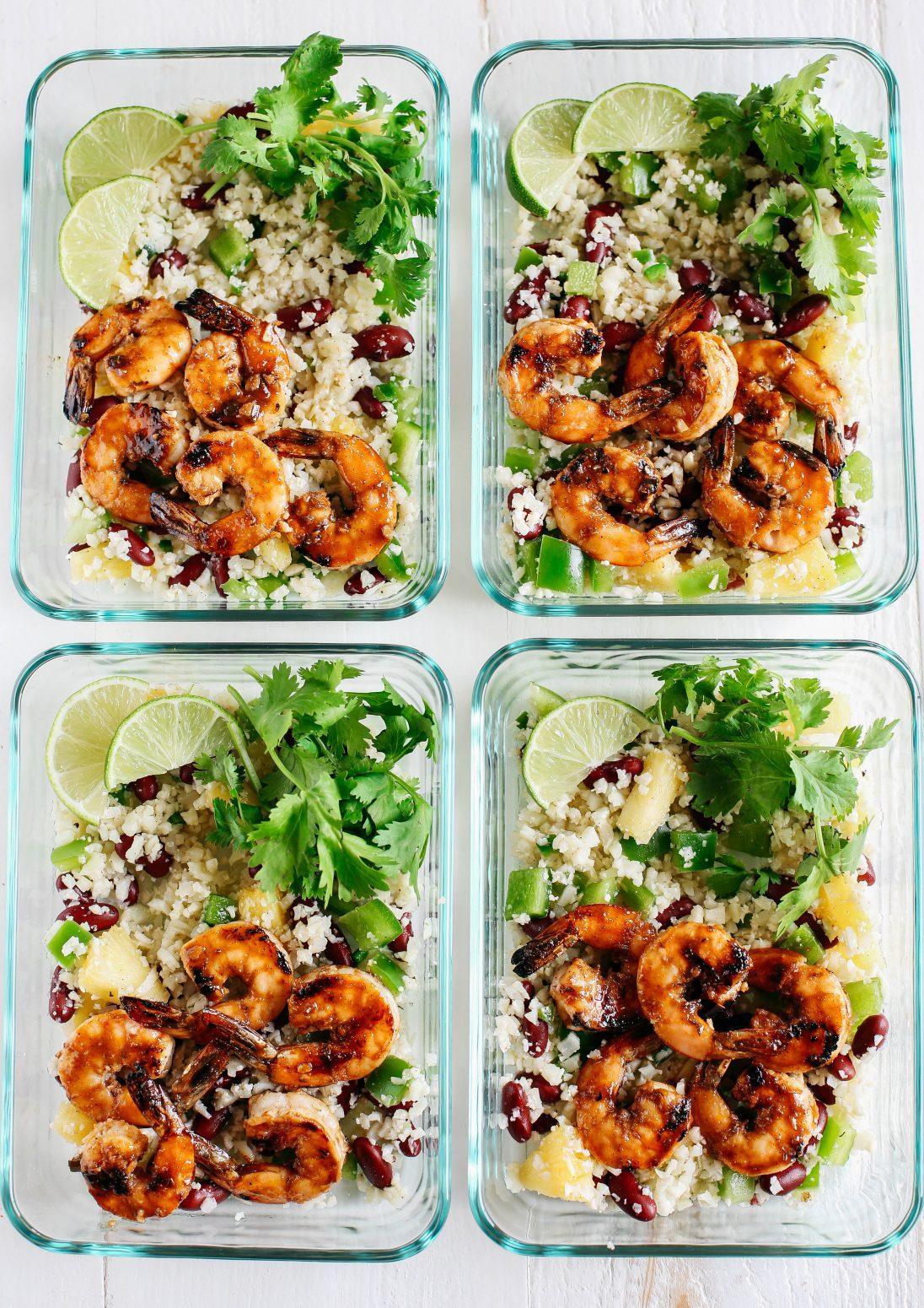 Caribbean Jerk Shrimp With Cauliflower Rice
