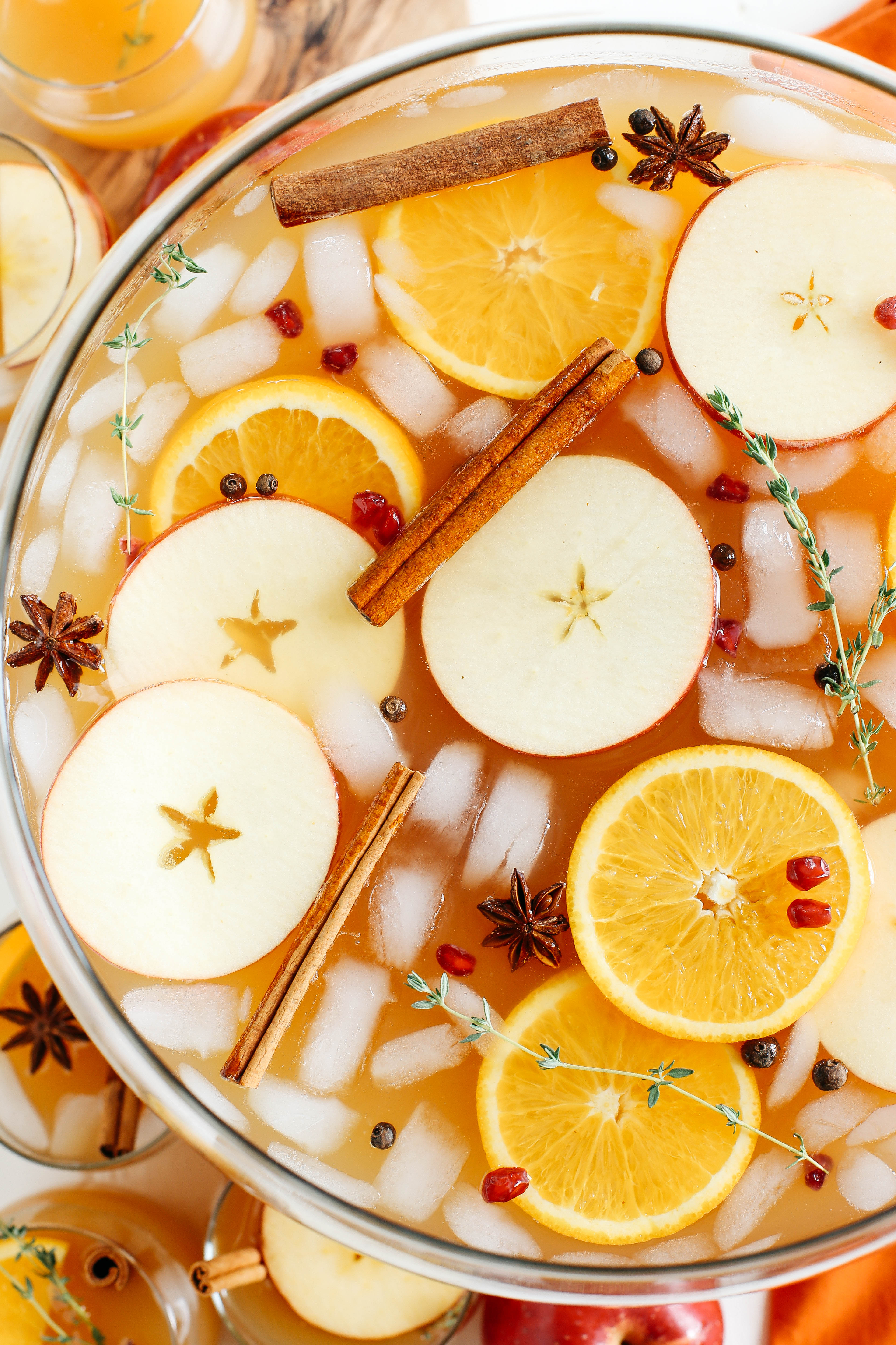 This Harvest Apple Cider Punch makes the perfect addition to any holiday party or gathering with a delicious combination of your favorite fall flavors all marinated together in one festive cocktail!