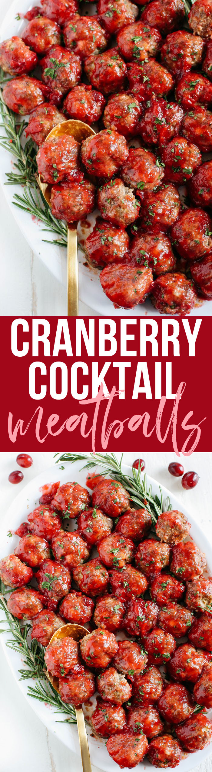 These Cranberry Cocktail Meatballs make the perfect holiday appetizer that are easy to throw together with the perfect blend of sweet and savory flavors!