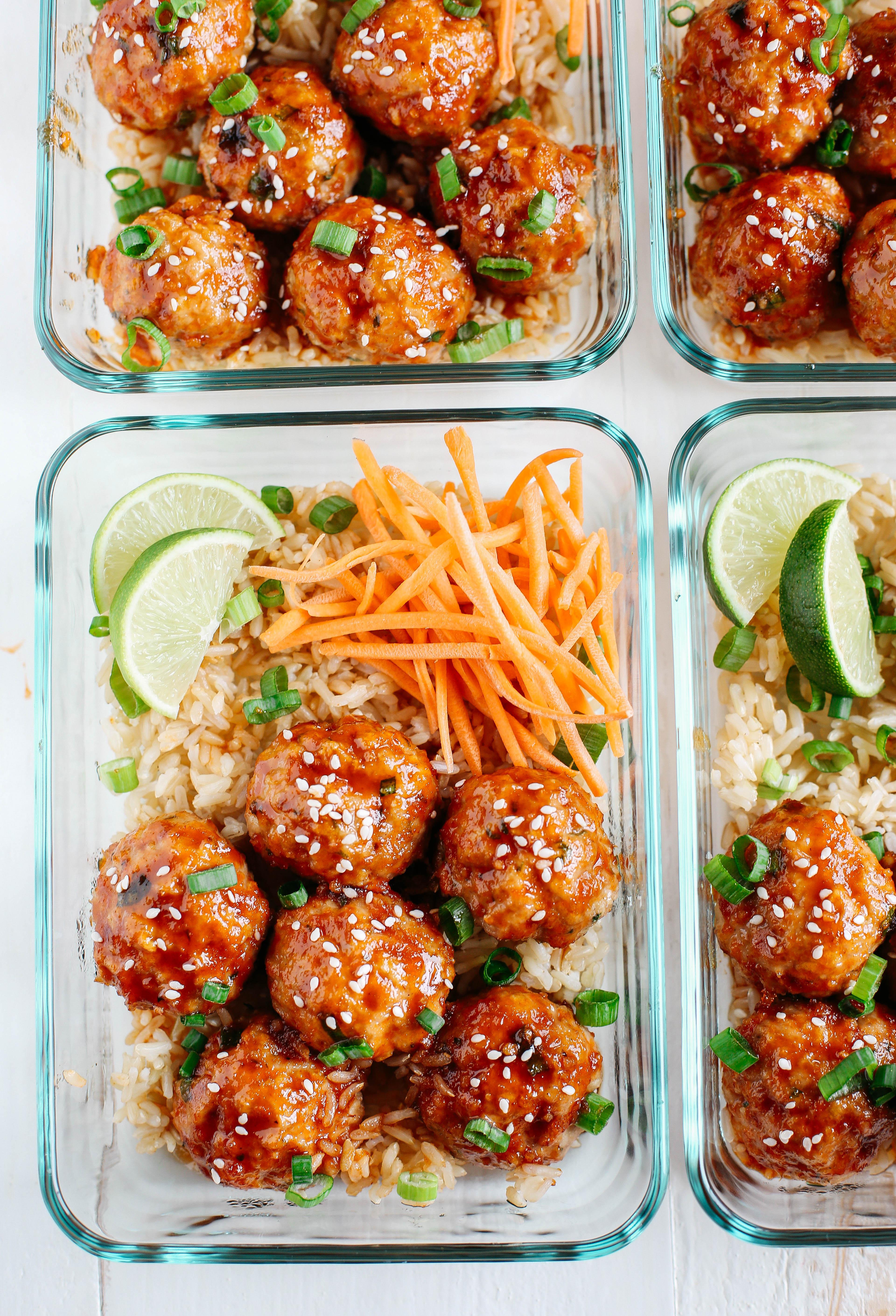 Honey Sriracha Glazed Meatballs