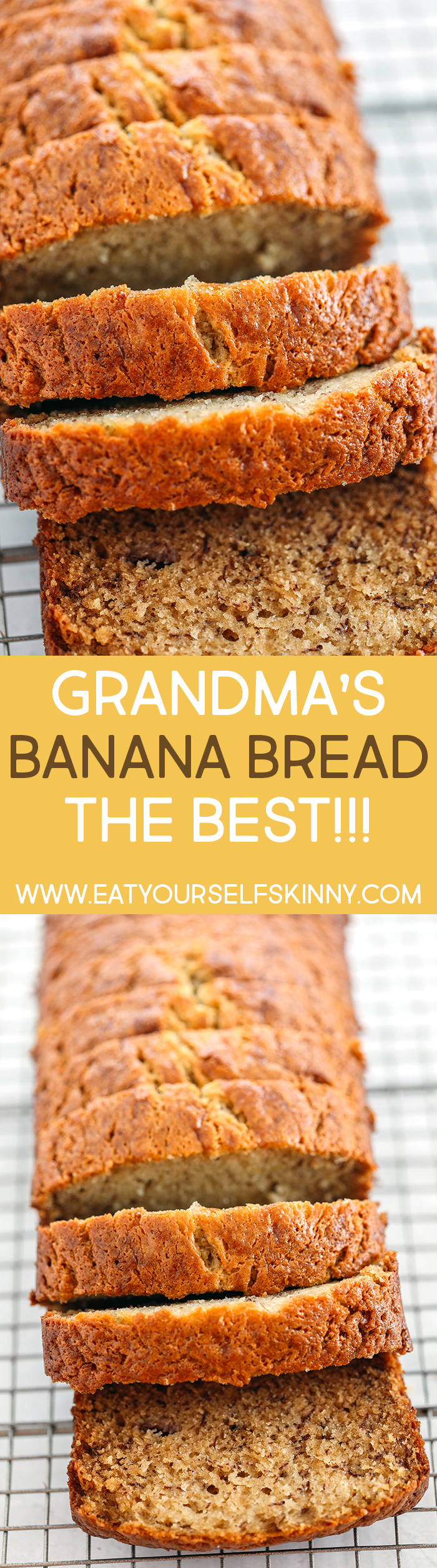 You will love my Grandma's tried and true banana bread recipe that is a classic favorite!  Perfectly sweet, moist and full of delicious banana flavor!