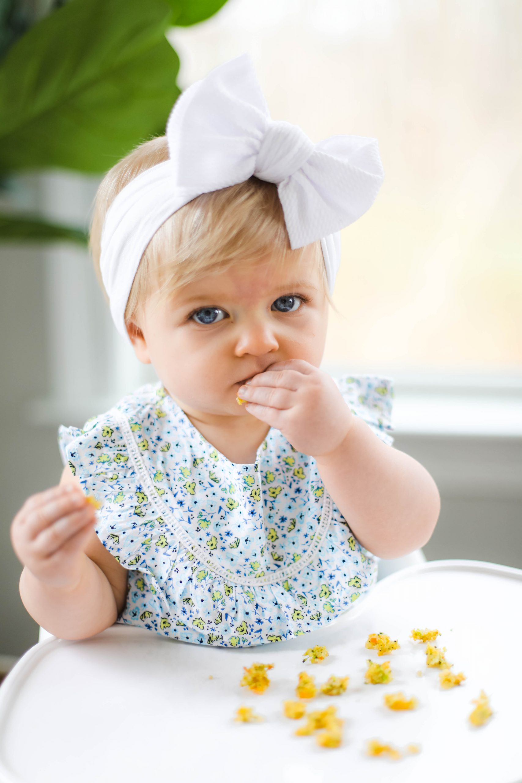 Emma loves these cheesy broccoli quinoa bites!