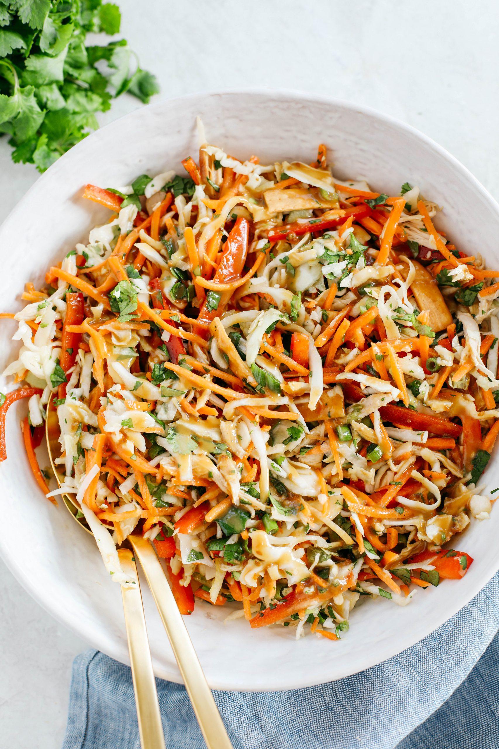 Crunchy Thai Chicken Salad Eat Yourself Skinny