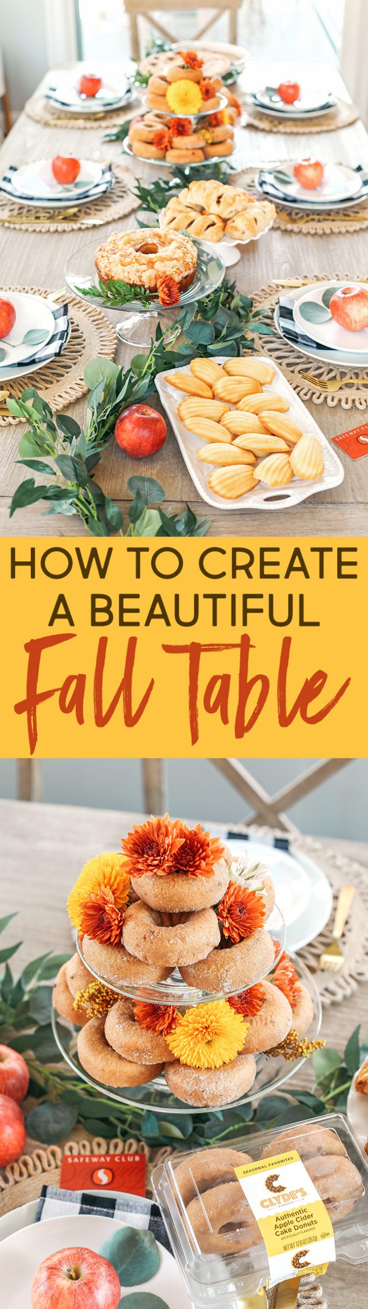 Whether hosting family this holiday or throwing together a quick brunch, here are some fun tips for creating a beautiful fall-inspired table!