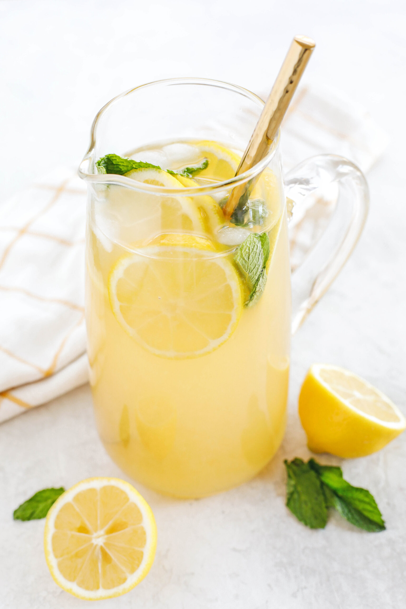 This Honey Ginger Lemonade makes the perfect summer beverage that is refreshing, delicious and easily made with just 4 simple ingredients!