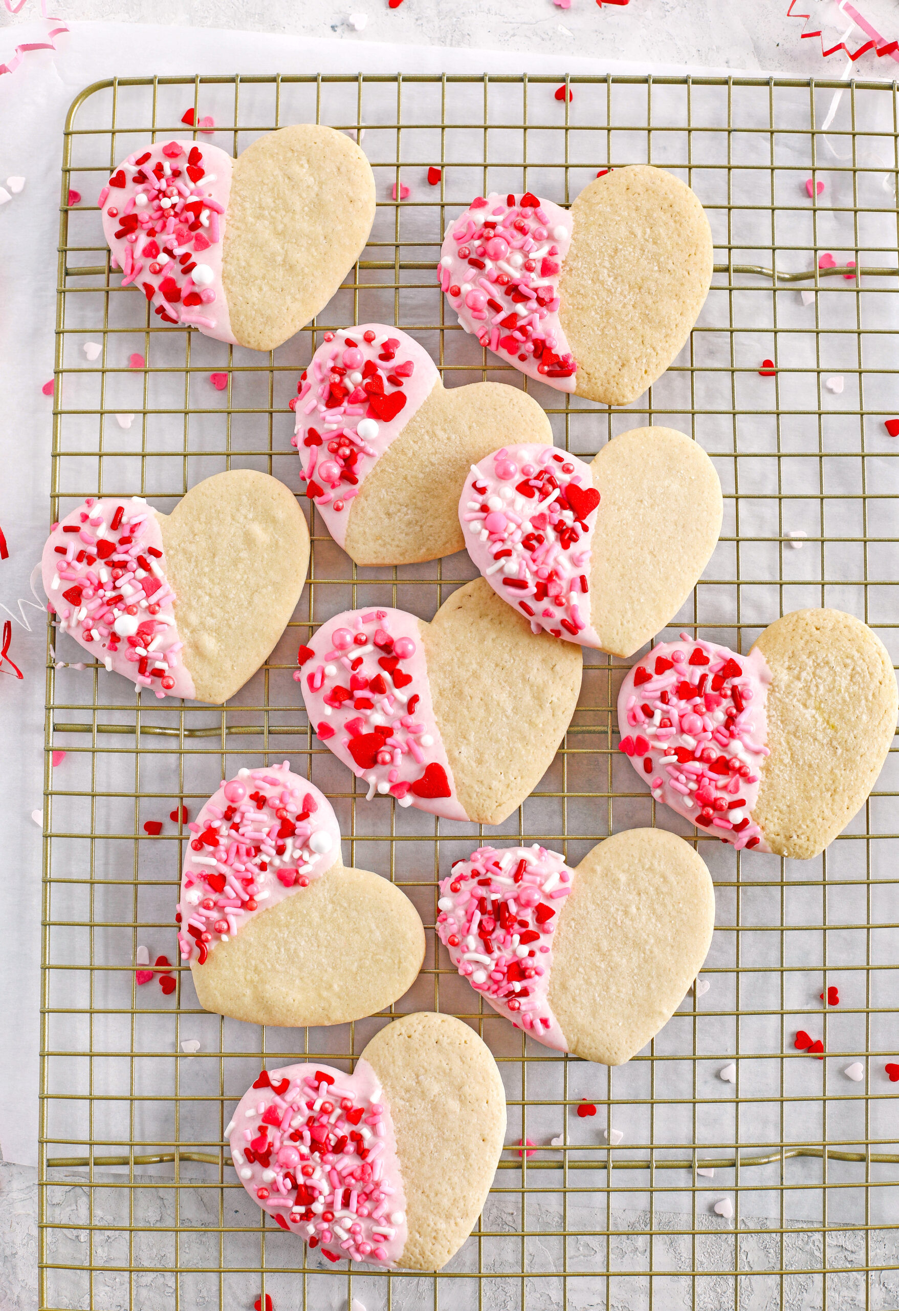 These Valentine's Day Grain-Free Sugar Cookies are soft on the inside and deliciously chewy on the outside! Cut them into fun shapes and have fun decorating them for Valentine's Day!